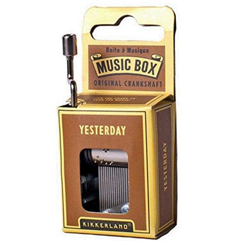 Caja de Musica Metalica Coleccion Kikkerland Melodia YESTERDAY 1221 7033f