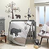Lambs & Ivy Woodland Forest Animal Nursery 3-Piece Mini Crib Bedding Set - Gray