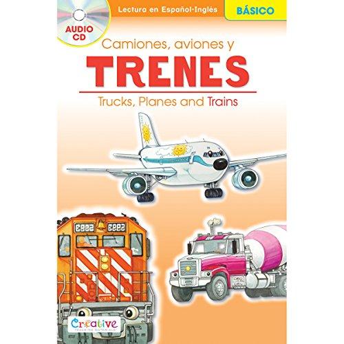 PBS Publishing Papier Creative Teaching materialen Spaans-Engels boek met cd-trucks, vliegtuigen en treinen