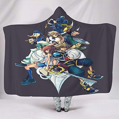 O5KFD & 8 KingdomHearts Design Print Sherpa comfortabele hoed dekens - alle maten voor mannen