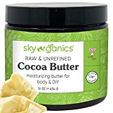 Cocoa Butter by Sky Organics (16 oz) Pure Unrefined Raw Cocoa Butter for Body, Hair and DIY Raw...