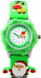 Hemobllo Christmas Wrist Watch Kids Hand Watch Xmas Santa Watch Birthday Gift Watch for Children Students