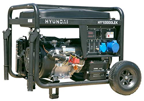 HYUNDAI Benzin-Generator HY10000LEK D, Stromerzeuger mit 8.2 kW (230 V) Leistung, Notstromaggregat für Baustellen, Stromgenerator für Notstromversorgung, Stromaggregat.