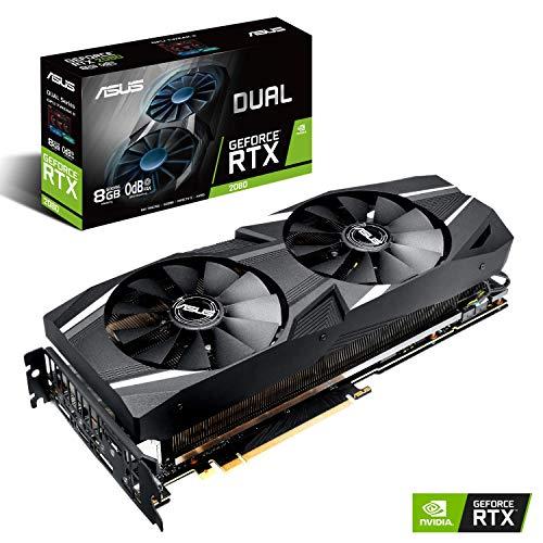 ASUS GeForce RTX 2080 Dual 8GB Gaming Grafikkarte (Nvidia, PCIe 3.0, 8GB DDR6 Speicher, HDMI, Displayport, USB Type-C)
