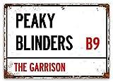 Placa de pared de 20 x 15 cm inspirada en el espectáculo de televisión de Peaky BLINDERS – Pub Shed Bar Man Cueva, hogar, dormitorio, oficina, cocina, regalo – The Garrison Street Road