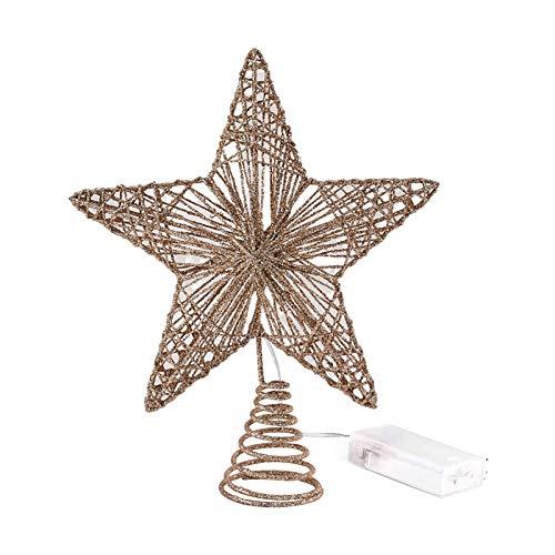 HEYJUDY Christmas Tree Star Topper Lights, Christmas Tree Star Ornament Lightweight Exquisite LED Decor for Holiday Christmas Tradition Moravian Tree Christmas Decor