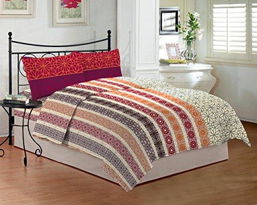 Bombay Dyeing Royal Touch DSN-5 - Sábana bajera para cama de matrimonio (274 x 229 cm), color crudo TC-290