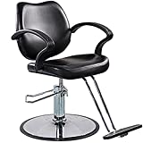 FlagBeauty Black Hydraulic Barber Styling Chair Hair Beauty Salon Equipment