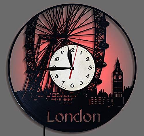 LINZEWANG creatieve klok de Londense wandklok Without Night Light Edition