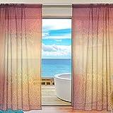 SKYDA Juego de 2 paneles de cortinas, de estilo étnico, para salón, 198 cm de largo, poliéster, Multicolored, 55'W x 84'L