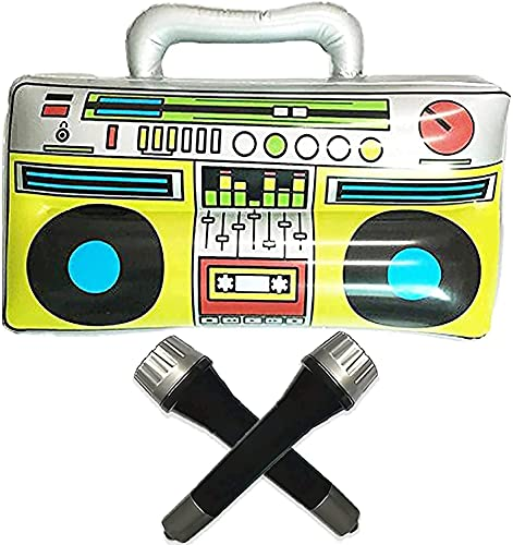 """GuassLee 16"""" Party Inflatable Boom Box PVC Radio..."""