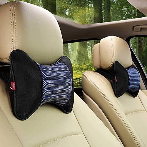 Almohadas de cuello de coche individuales 1 pieza reposacabezas apto para la mayoría de coches relleno de fibra universal almohada de coche (azul)