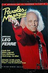 Paroles & Musique 1985 06 n° 51 SPECIAL LEO FERRE LOUIS ARTI ALLAIN LEPREST OUM KALTHOUM Jack LANG