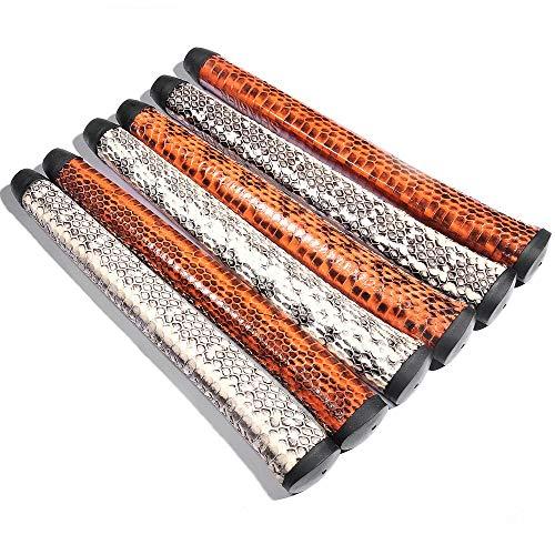 SHABIER Snake Leather Mid Size Golf Putter Grips Pure Handmade Snake Leather Golf Grips