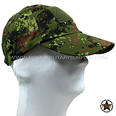Royal Military Surplus Tactical Cap - Canada Army Digital Camouflage - Airsoft & Paintball Gear - CADPAT (Temperate Woodland)