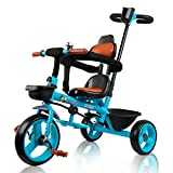 Beehive Toys & Gifts Blue 3-in-1 Trike for Baby & Toddler with Parent