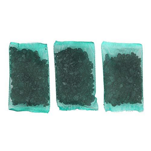 Atyhao Carbón Activado, purificación de acuarios Filtro de carbón Activado con Bolsa de Malla Fina Accesorios de purificación de Agua para peceras (Cada Bolsa de Red 50 g)(3 Pcs)