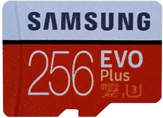 Samsung Evo Plus 256GB MicroSD Memory Card (2 Pack) Works with GoPro Hero 8 Black (Hero8), Max 360 UHS-I, U1, Speed Class 10, SDXC (MB-MC256G) Bundle with 1 Everything But Stromboli Micro Card Reader