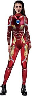 Adult Christmas Halloween Costume Women Sexy 3D Jumpsuit Bodysuit