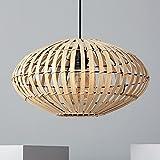 LEDKIA LIGHTING Lámpara Colgante Bambu Atamach 210x400x400 mm Natural E27 Casquillo Gordo Bambú Decoración Salón, Habitación, Dormitorio