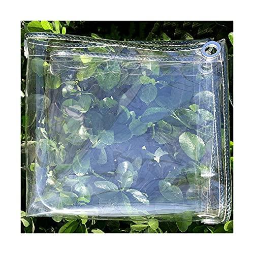 AMSXNOO 410g/m² Lona Impermeable, Lona Transparente con Ojales Toldo de Cubierta de Plástico PVC para Coverup Plantas de Jardines Invernaderos Muebles de Terraza (Size : 1.6x3M)