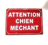Plaque de Porte - Attention Chien méchant - en métal