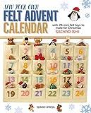 Sew Your Own Felt Advent Calendar with 24 mini felt toys to make for Christmas