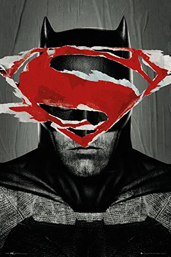 GB Eye 61x 91,5cm Batman Vs Superman Batman Teaser Maxi Poster, Mehrfarbig