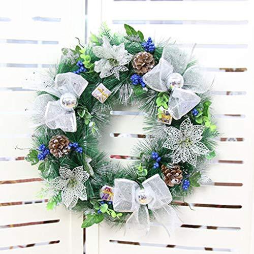 CjnJX-Garlands 40CM Kerst kransen voor het knutselen, Voor Open haard raamkozijn Pinecone Ornamenten Kerst Krans Kerstmis Decoratieve Krans