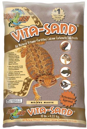 Zoo Med VM-10 Vita-Sand Mojave Mauve, 4.5 kg, Terrariensand für Reptilien, mit Vitaminen