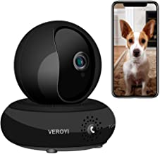 Veroyi Wireless IP Camera HD 1080P WiFi Home Security Surveillance Camera, 120° Wide Angle, 2 Way Audio Reverse Call, Night Vision Dome Camera