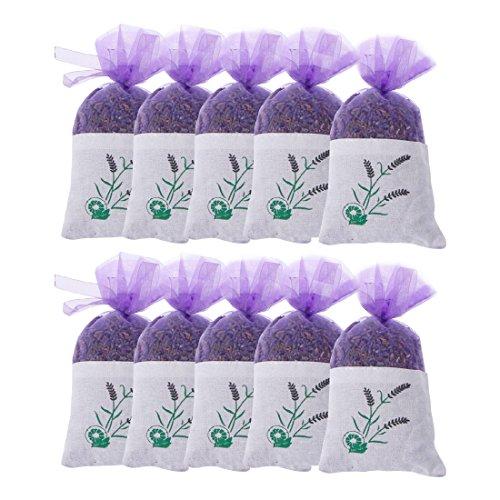 MQFORU Getrockneter Lavendelblütenduft Bio 100% natürliche Superqualität Einkommensmöglichkeiten für essbaren Blumentee (10 Säckchen) (Lavendelblüte)
