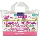 森永 E赤ちゃん エコらくパック つめかえ用 1600g(400g×2袋×2箱) 景品付き【入れかえタイプの粉ミルク】
