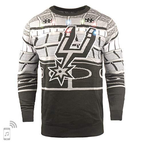 FOCO NBA San Antonio Spurs Mens Light Up Bluetooth Speaker Sweaterlight Up Bluetooth Speaker Sweater, Team Color, Large image