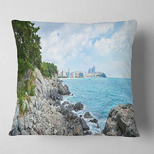 Designart Pathway Along The Coast Of Dogbane Landscape Printed Throw Cushion Pillow Cover For Living Room Sofa 26 X 26 Shefinds