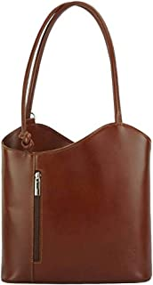 FLORENCE LEATHER MARKET Borsa donna marrone a spalla in pelle 28x9x29 cm - Cloe - Made in Italy