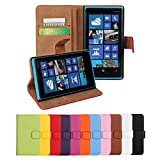 Lumia 920 Case, iCoverCase Genuine Leather Magnetic Flip [Card Slot] Wallet Cover Kickstand Case for Nokia Lumia 920 (Black)