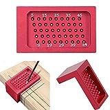Herramientas de carpintería, regla de medición de agujero, herramienta de carpintería de aleación de aluminio herramienta de escribing con escala métrica de posicionamiento
