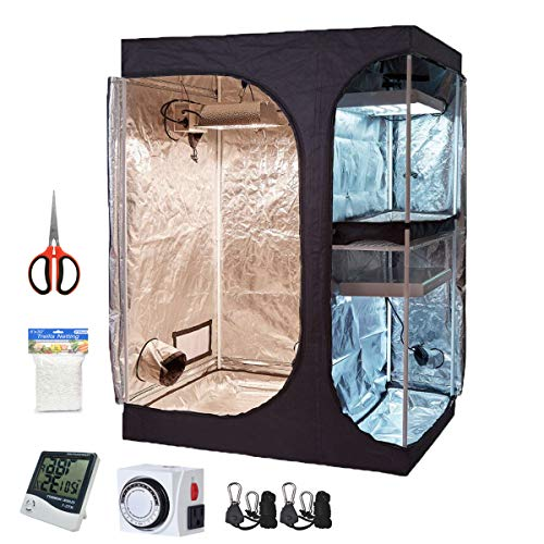 Oppolite 60'X48'X80' 2-in-1 Hydroponic Indoor Grow Tent Room Propagation High Reflective Mylar Growing Plant W/Accessories
