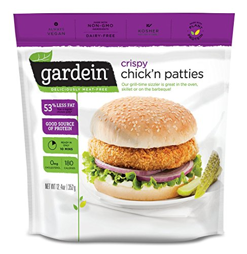 Gardein Meatless Crispy Chick'n Patties, Protein Packed Patties, 4 Count (Frozen)