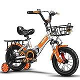 FUFU Prima De Seguridad Bici del Deporte De Los Niños Bicicleta For Niños De Edad 2-5 Años Niños, 12,14 Pulgadas De Bicicletas De Montaña Edición A Niños Y Niñas (Color : Orange, Size : 12in)