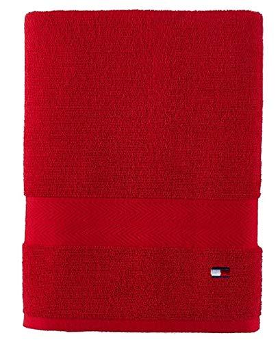 Tommy Hilfiger Modern American Toalla de baño, 30 x 54 Pulgadas, Rojo Chino