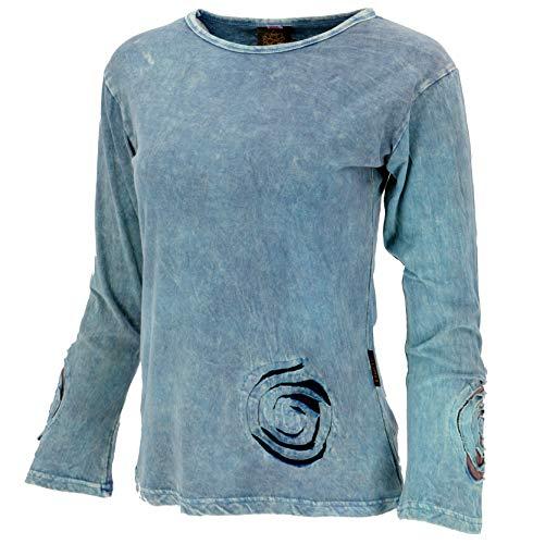 Guru-Shop, Spiraal van Shirt met Lange Mouwen, Katoen, Truien, Truien met Lange Mouwen