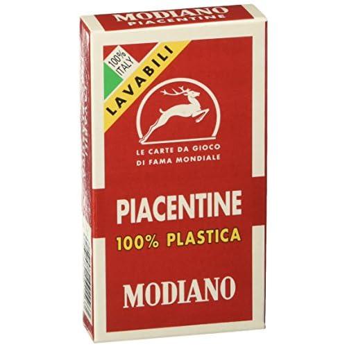 MODIANO Piacentine 81/10 - 100% Plastica - Carte da gioco regionali
