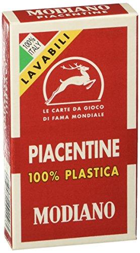 Modiano Piacentine 81/10 - 100% Kunststoff - Regionale Spielkarten