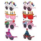 8 Pares Gafas De Cumpleaños Gafas De Fiesta Para Cumpleaños Gafas De Sol De Fiesta De Cumpleaños Feliz Cumpleaños Anteojos Graciosos Para Fiestas De Cumpleaños Gafas Para Fiestas