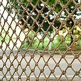 FSCLJ Escalera Balcón Barandilla Red de protección Red de Seguridad para niños Hamaca al Aire Libre Zona de Juegos Redes para pájaros Red de Carga de Cuerda de cáñamo Resistente (8 mm / 10 cm)