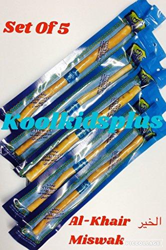 5x al-khair Miswak envasados al vacío, 8'(20cm) Dental cepillo de dientes a base de...