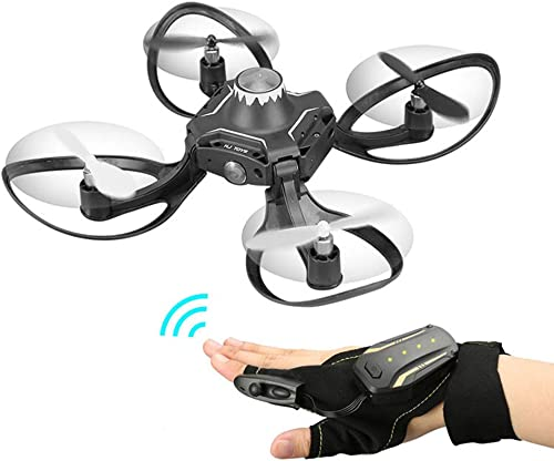 ZHAORLL Handschuhinduktionssteuerungsdrohne, WIFI480p HD-Luftfotografie 360 ° unendliches valgus faltendes Quadcopter, 2.4G Hochfrequenzfernsteuerungsflugzeug RC Geschenk
