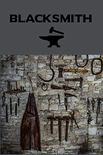 Blacksmith: Forge - Power Hammer & Tools, Blank Lined Writing Journal/Notebook